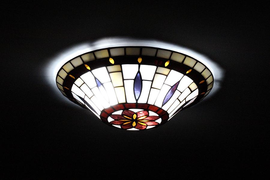 Plafoniere Tiffany : Lampade tiffany atmosfere in glass applique