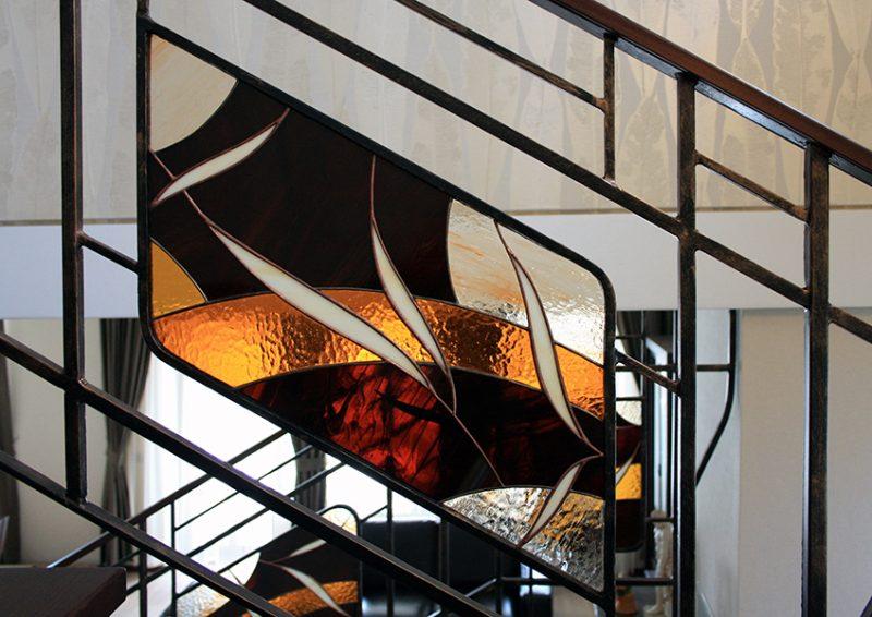 balustrada cu vitralii - detaliu 3