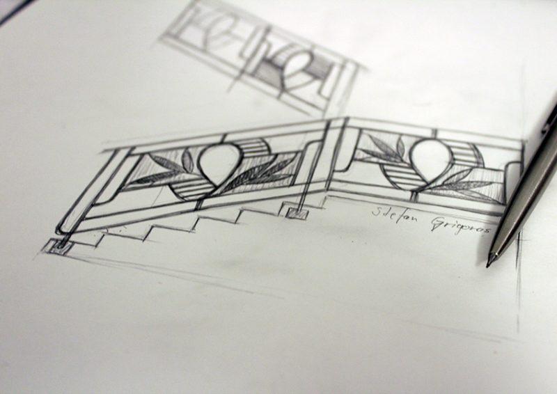 balustrada moderna - schita