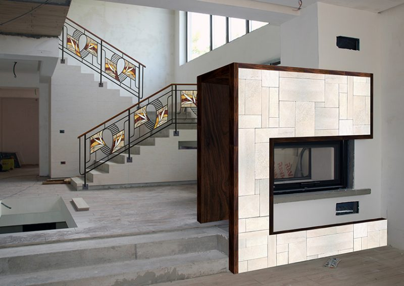 balustrada moderna - simulare proiect
