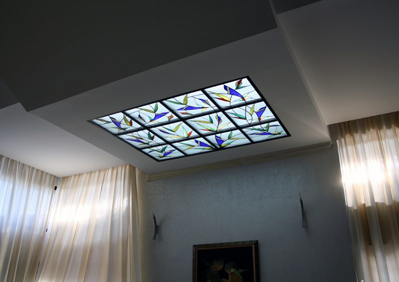luminator cu vitraliu - ansamblu