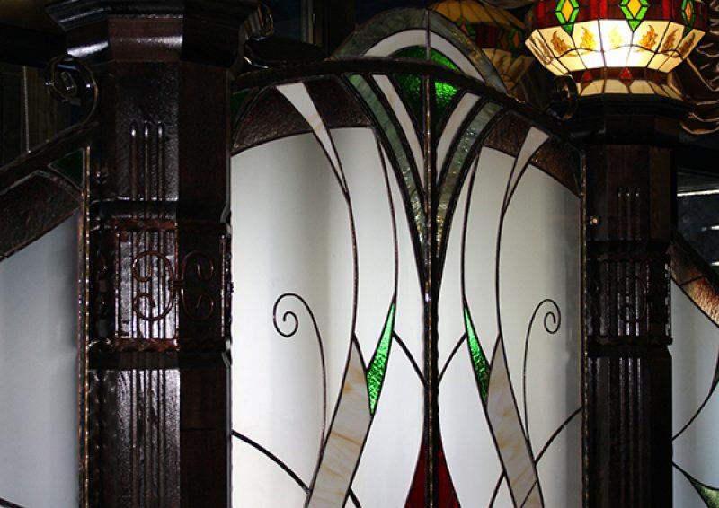 panou decorativ cu vitralii - detaliu 2