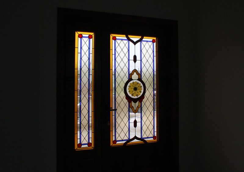 vitralii usi intrare - ansamblu