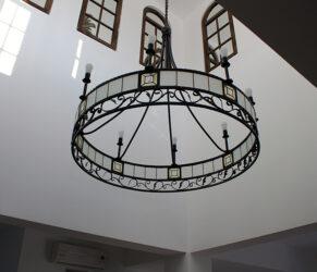 candelabru fier forjat - ansamblu