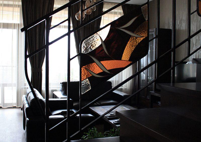 balustrada cu vitralii - detaliu 2