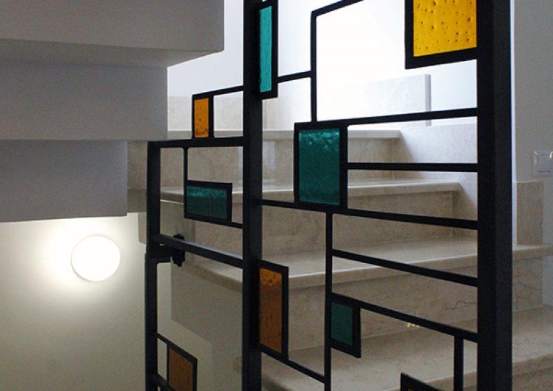 balustrada geometrica detaliu 1