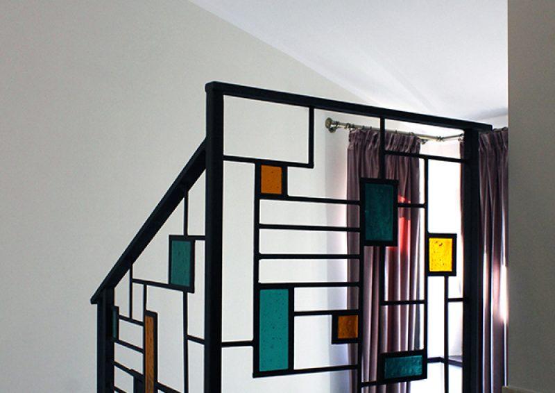 balustrada geometrica detaliu 2