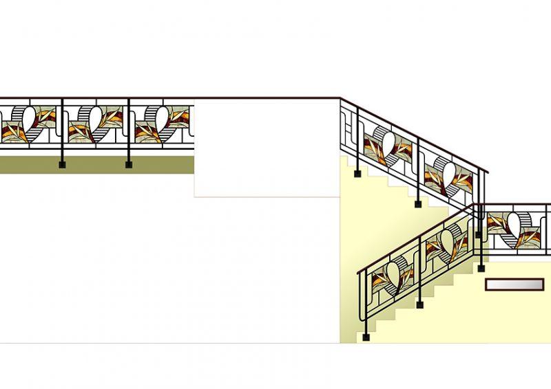 balustrada moderna - proiect