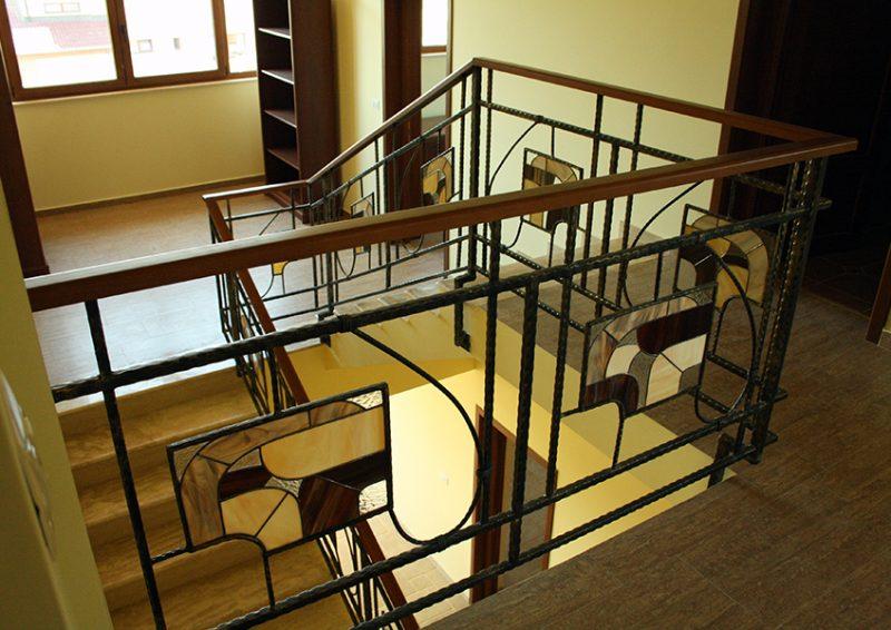balustrade cu vitralii - detaliu 2