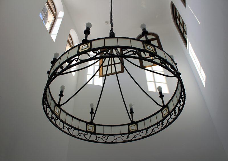 candelabru fier forjat - detaliu 2