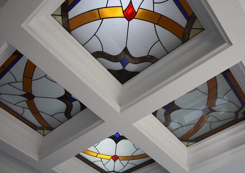 luminatoare cu vitralii - detaliu