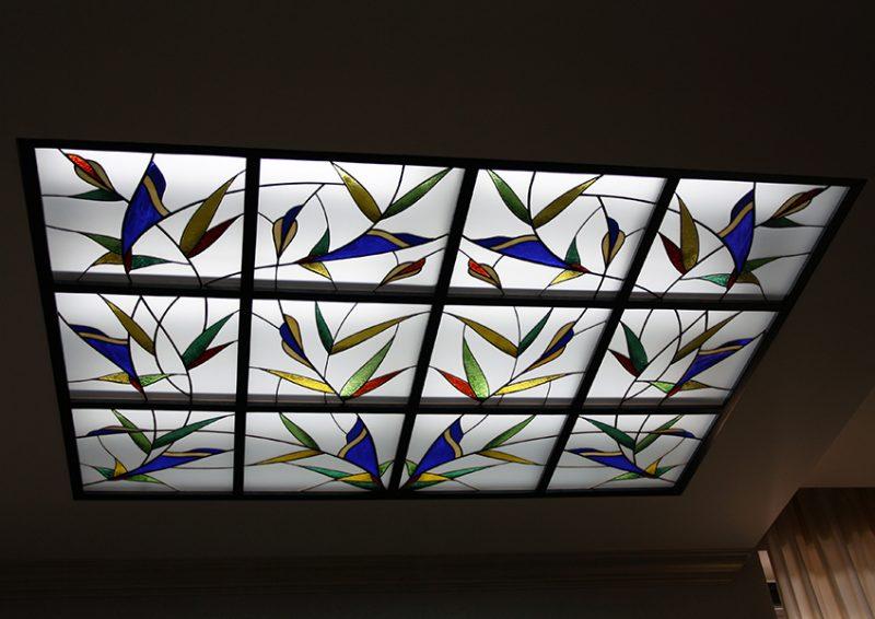 luminator cu vitraliu - detaliu