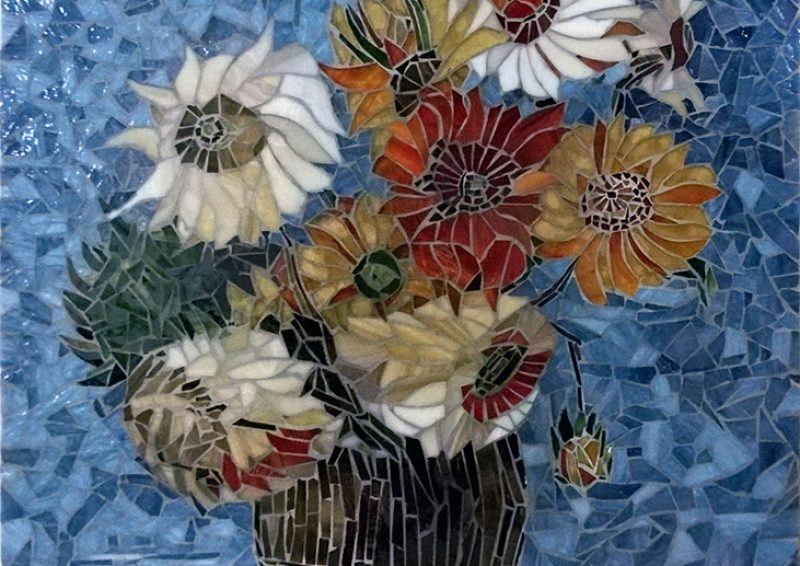 mozaic artistic - sticla