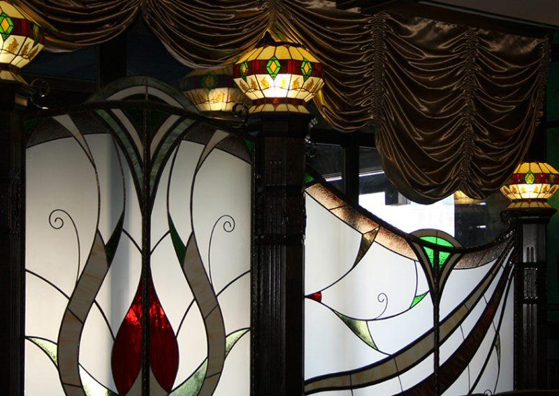 panou decorativ cu vitralii - detaliu 1