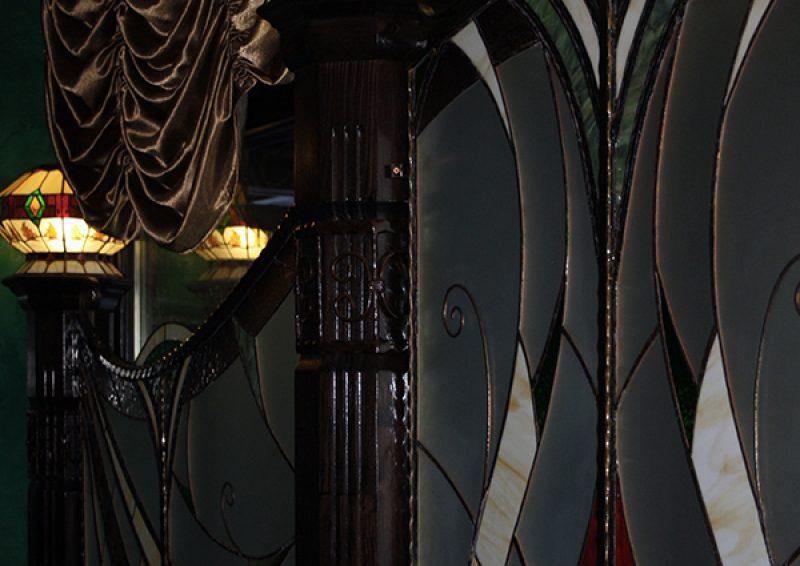 panou decorativ cu vitralii - detaliu 3