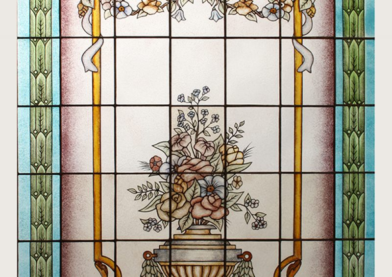 vitraliu pictat Cluj - ansamblu
